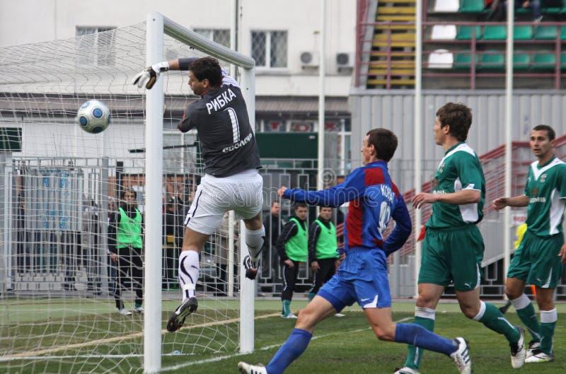 Obolon Kyiv vs Arsenal stock images