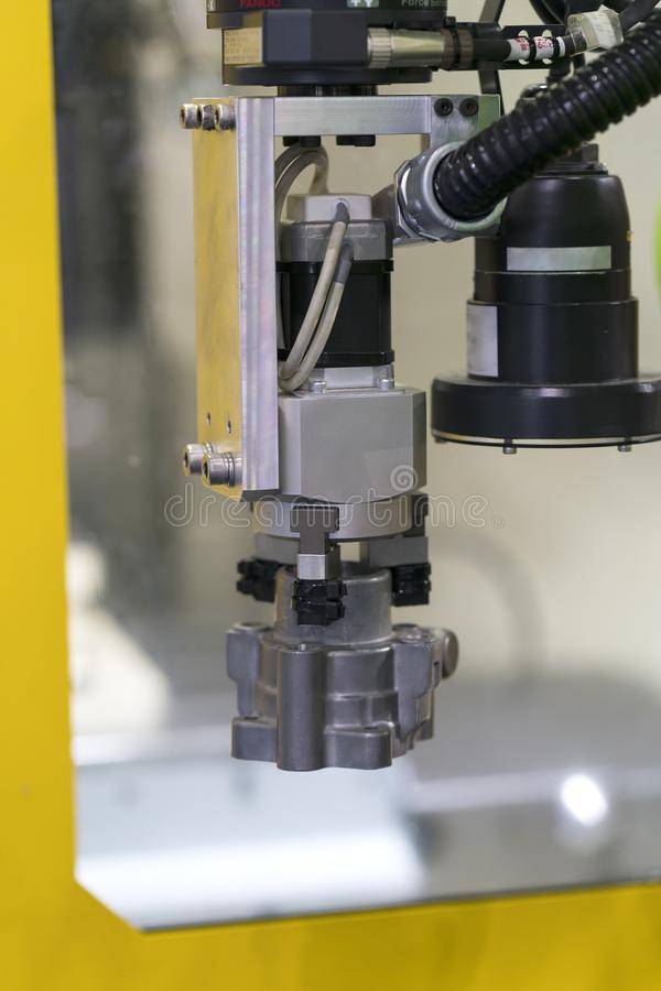 Obot e sistema di automazione per fabbricazione moderna fotografia stock libera da diritti