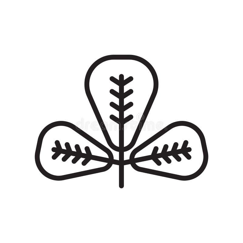 Obovate ikona wektoru znak i symbol odizolowywający na białym tle ilustracja wektor