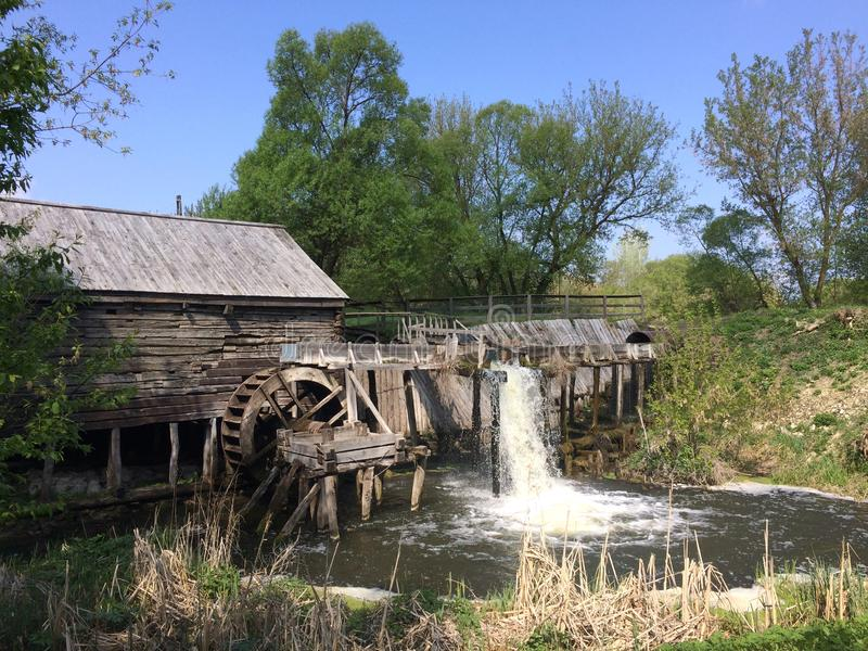 Oboyan, Kursk region Russian Federation - 05 05 2019: Water mill. The mill was built in 1861 by the local landowner Glazov. The mill was restored in 2013 royalty free stock photography