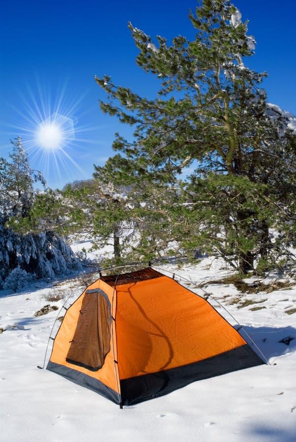 obozowa zima fotografia royalty free