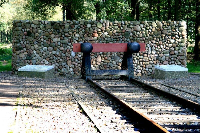 obozowy holenderski pomnikowy krajowy westerbork obraz stock