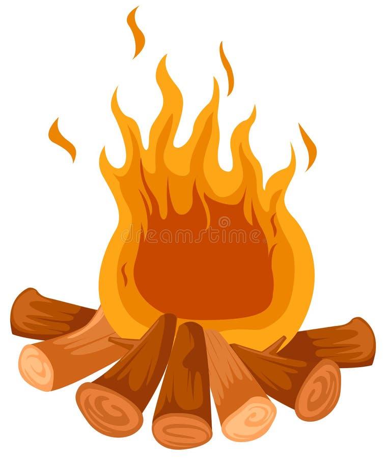 obozowy ogień ilustracji