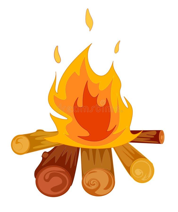 obozowy ogień royalty ilustracja
