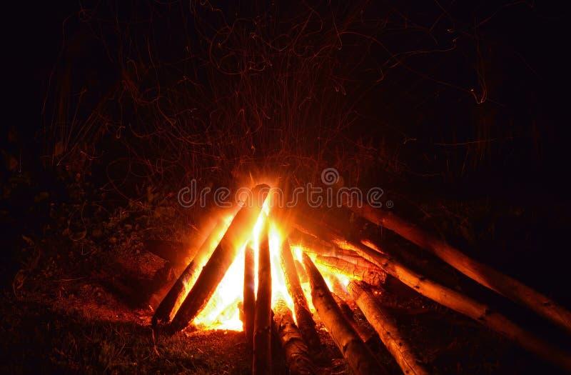 Obozowy ogień fotografia stock