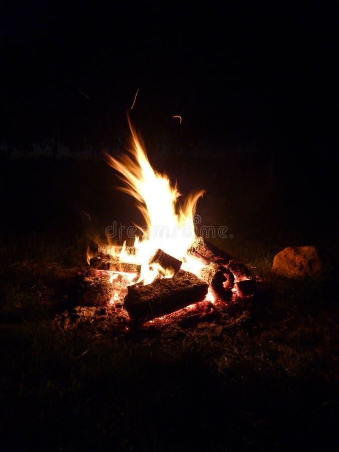 Obozowy ogień, ognisko obraz stock