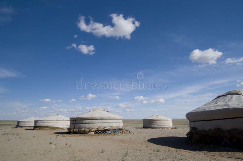 obozowy pustynny Ger Gobi zdjęcie royalty free