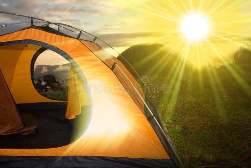 obozowy turysta fotografia royalty free