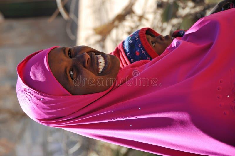 Obozuje dla Afrykańskich uchodźców i wysiedlenów na obrzeżach Hargeisa w Somaliland pod UN auspicjami zdjęcia royalty free