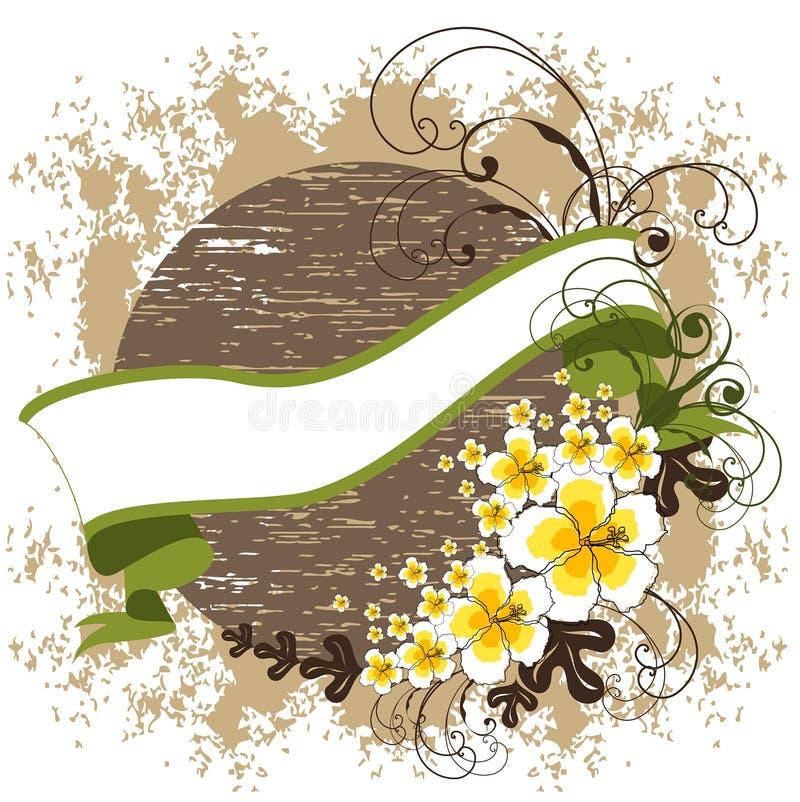 obróć rocznego banner hibiskus ilustracja wektor