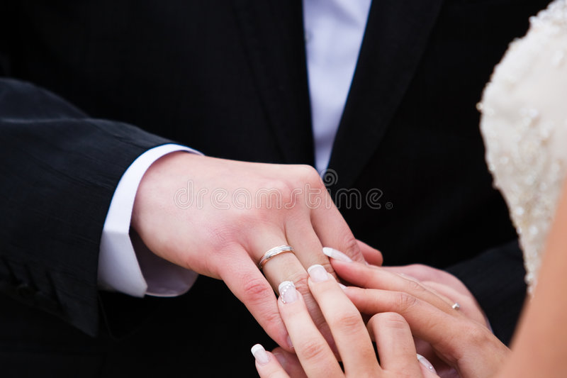 Obrączka ślubna zdjęcia stock