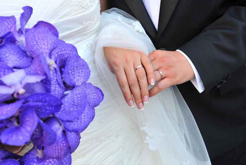 Obrączki ślubne zdjęcie stock