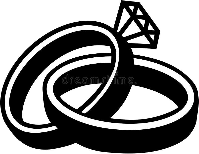 Obrączki ślubnej małżeństwo ilustracji