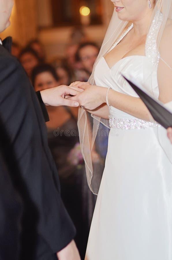 Obrączki ślubnej wymiana obrazy royalty free