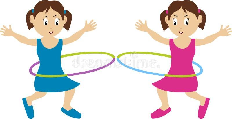 obręcza hula bliźniacy ilustracja wektor