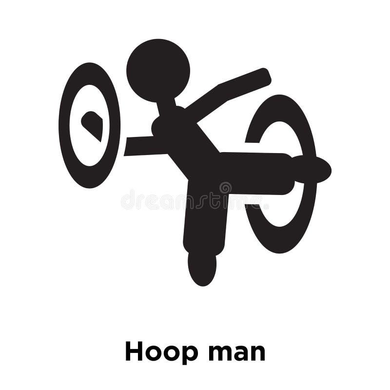 Obręcza mężczyzna ikony wektor odizolowywający na białym tle, loga pojęcie ilustracji