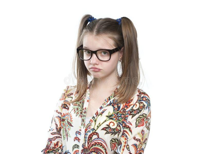Obrażająca nastoletnia dziewczyna fotografia stock