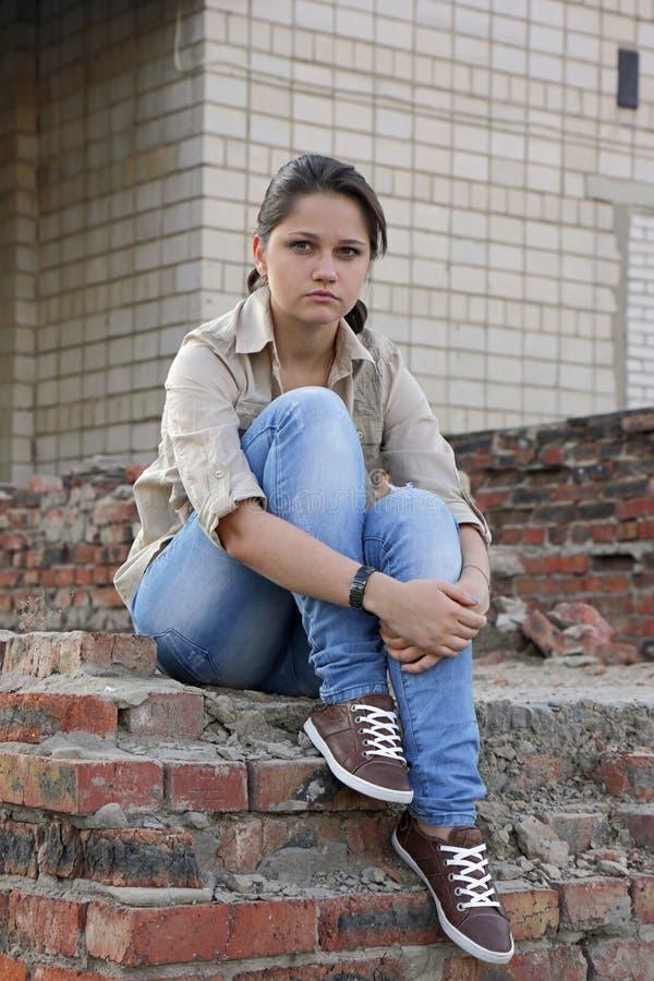 Obrażona młoda kobieta zdjęcie royalty free