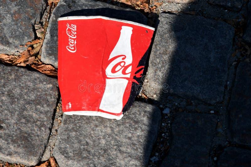 Obra clásica de la Coca-Cola imágenes de archivo libres de regalías