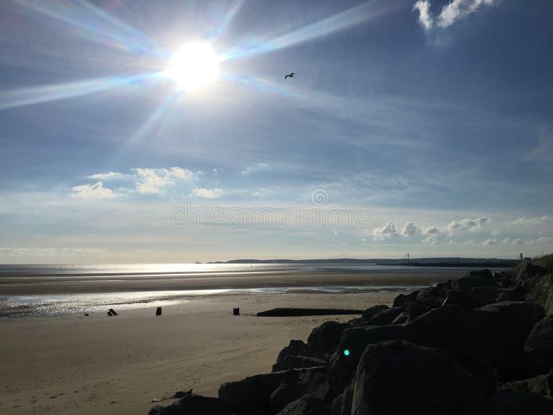 Obra clásica de la playa fotografía de archivo
