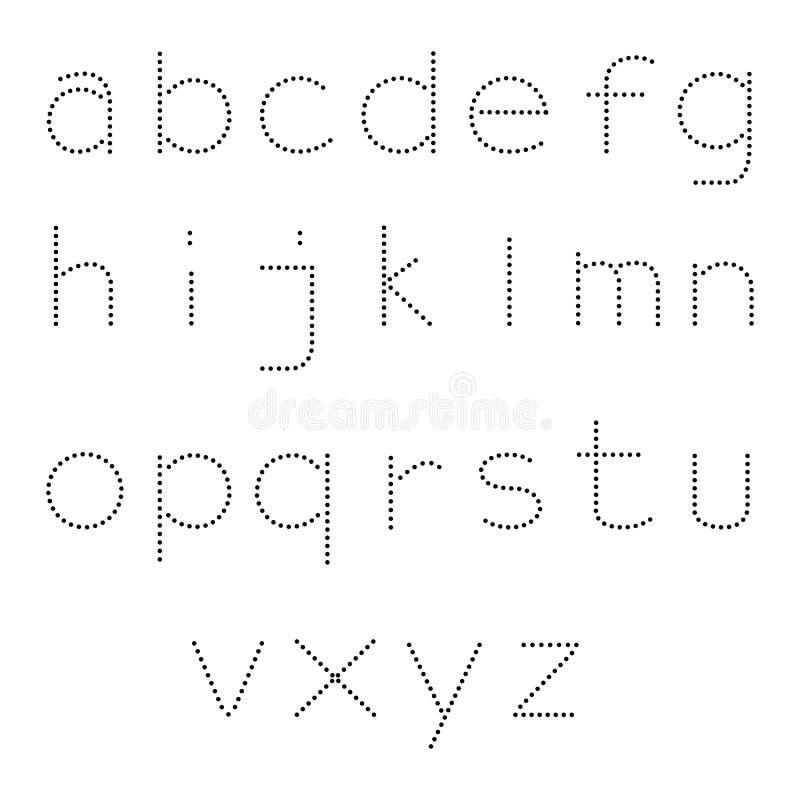 Obra clásica fuerte del estilo del punto del alfabeto libre illustration