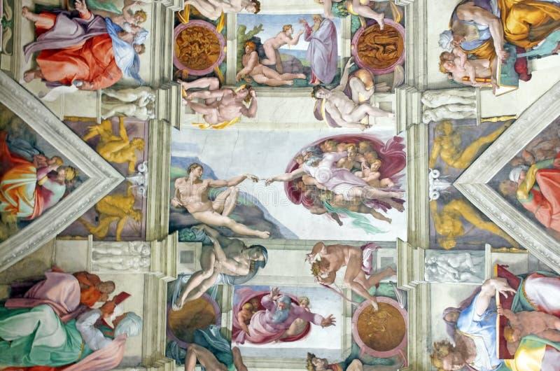 Obra-prima de Michelangelo fotos de stock