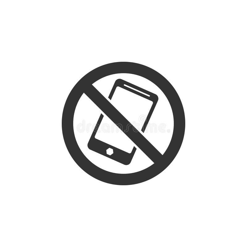 Obraca daleko telefon komórkowy Szyldową ikonę Element lotniskowa ikona dla mobilnych pojęcia i sieci apps Szczegółowy Obraca dal ilustracji