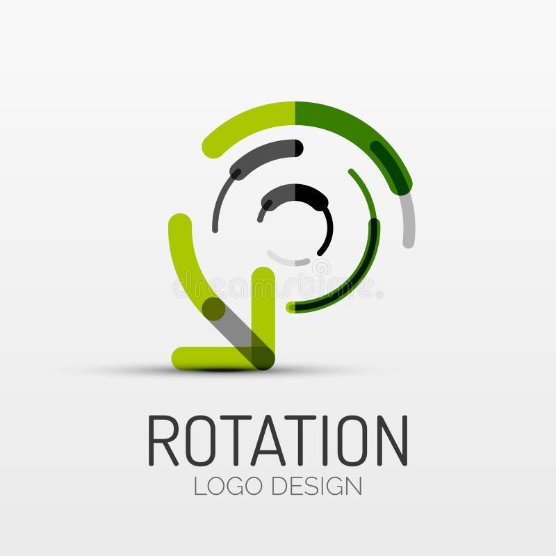 Obracanie, strzałkowaty firma logo, biznesowy pojęcie ilustracji