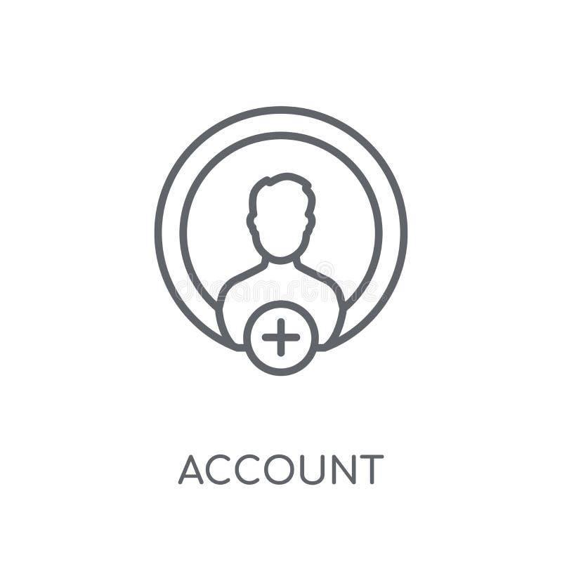 Obrachunkowa liniowa ikona Nowożytny konturu konta logo pojęcie na whit ilustracji