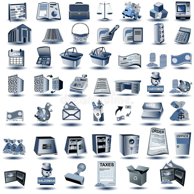 obrachunkowe błękitny ikony ilustracji