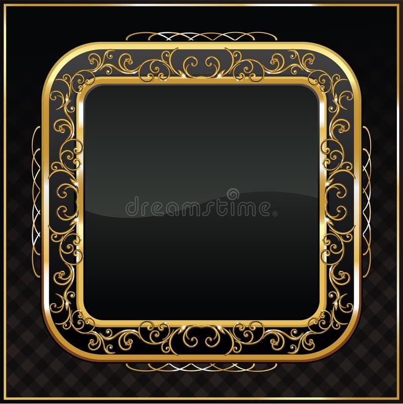 obramiać złociste etykietki royalty ilustracja