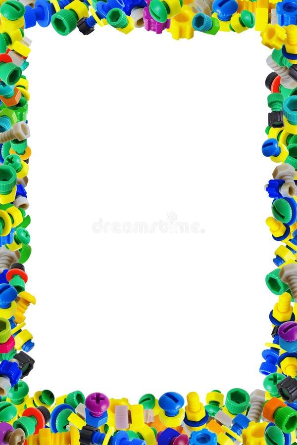 Obramia dla children dyplomu - plastikowe zabawki ilustracja wektor