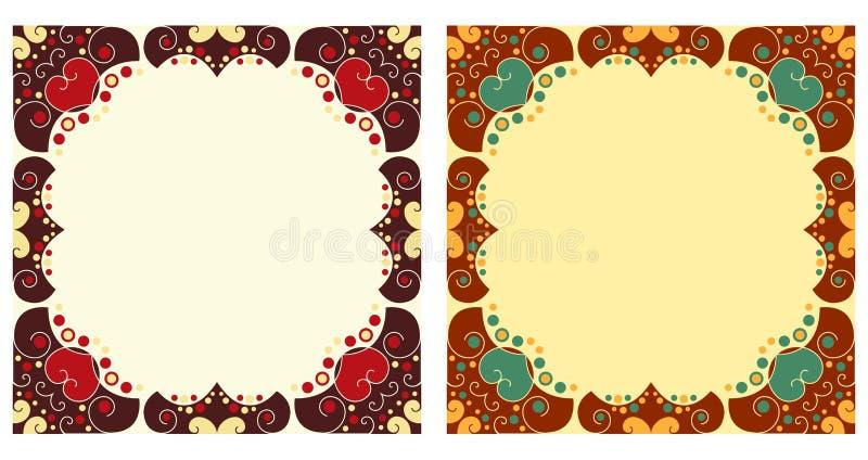obramia ornamental dwa ilustracji