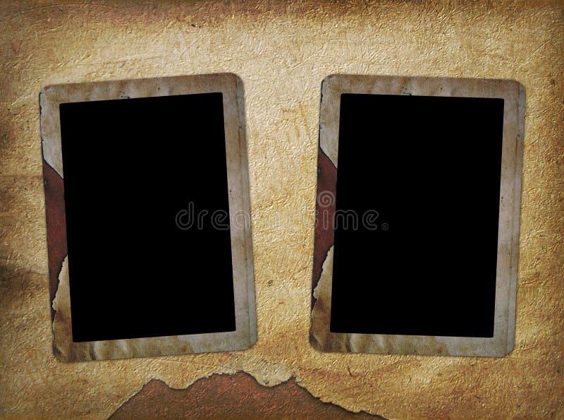 obramia starą fotografię dwa royalty ilustracja