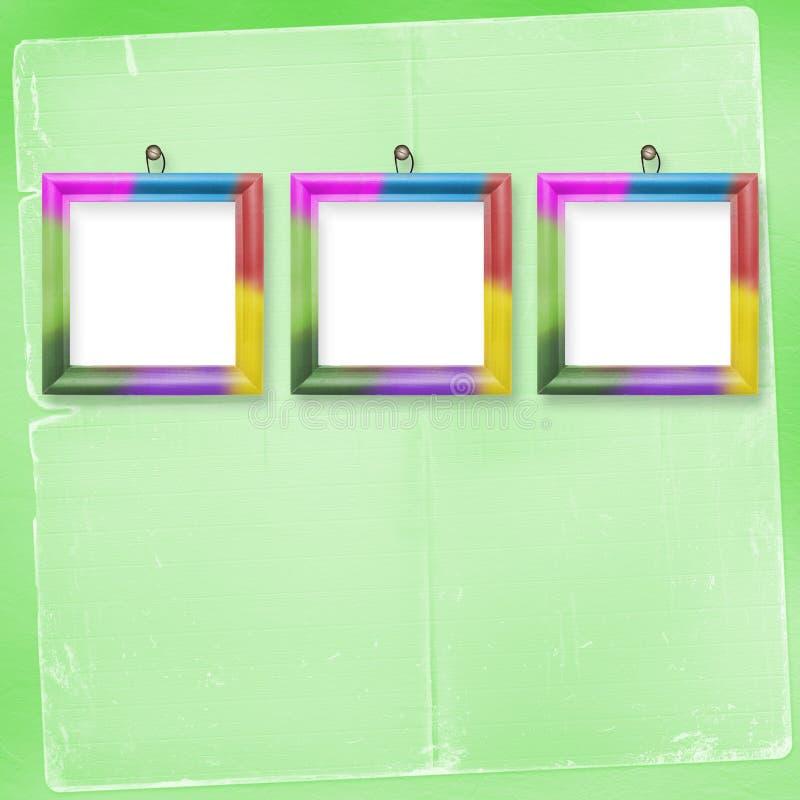 obramia stubarwne fotografie trzy ilustracji