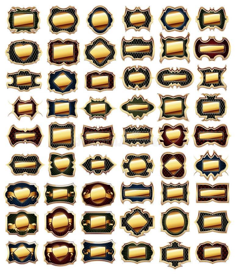 obramia złotego set ilustracji