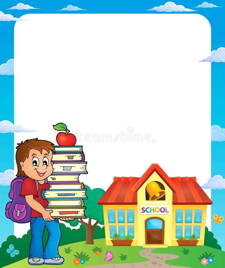 Obramia z szkolną chłopiec 3 ilustracji