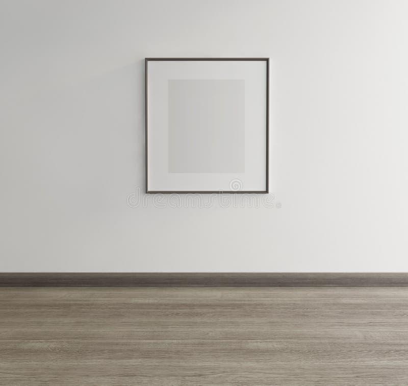 Obramiająca sztuka na ścianie galeria sztuki zdjęcie stock