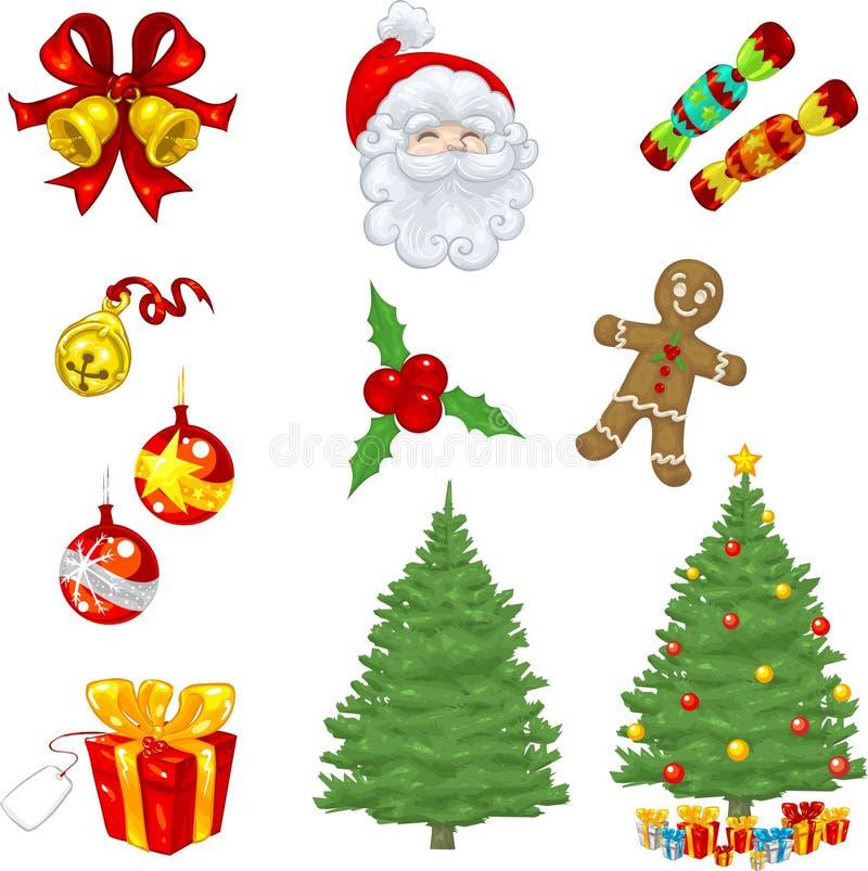 Obras clásicas de la Navidad ilustración del vector