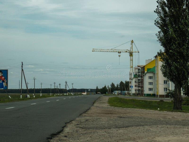 Obras na região de Gomel em Bielorrússia foto de stock