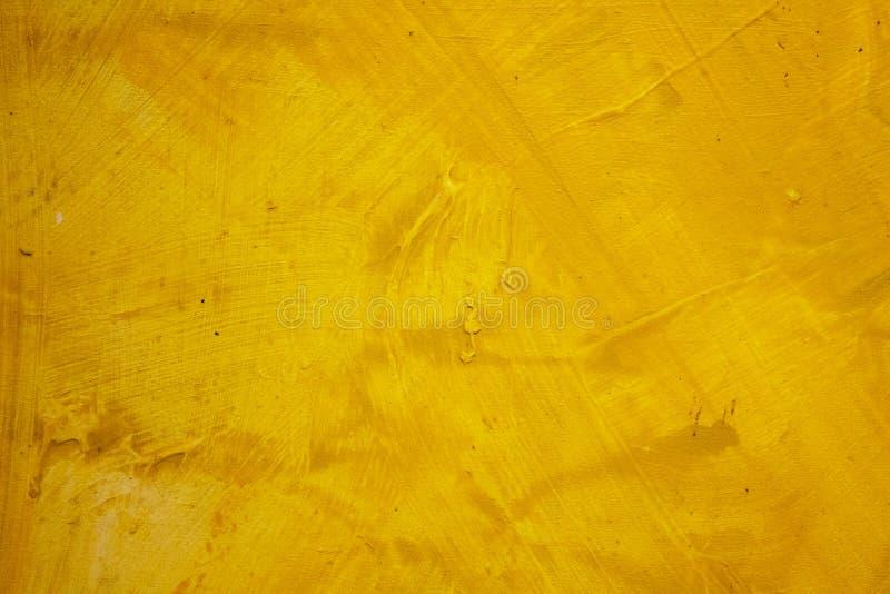 obraz abstrakcyjne Malować z olejami na kanwie dla tła ważny uderzenie atramentu kolor żółty zdjęcia royalty free