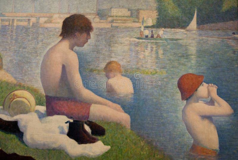 Obraz Georges Seurat w national gallery w Londyn obrazy stock