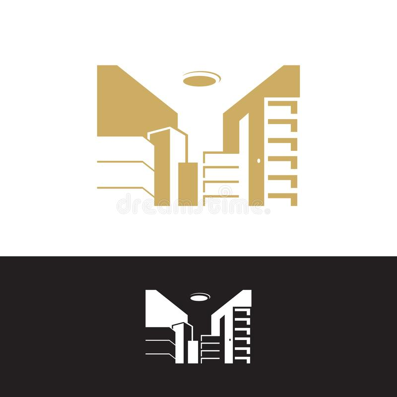 obraz ilustracji wektorowych wektorowych logo wektorowych umieszczonych na mieszkaniu mieszkalnym royalty ilustracja