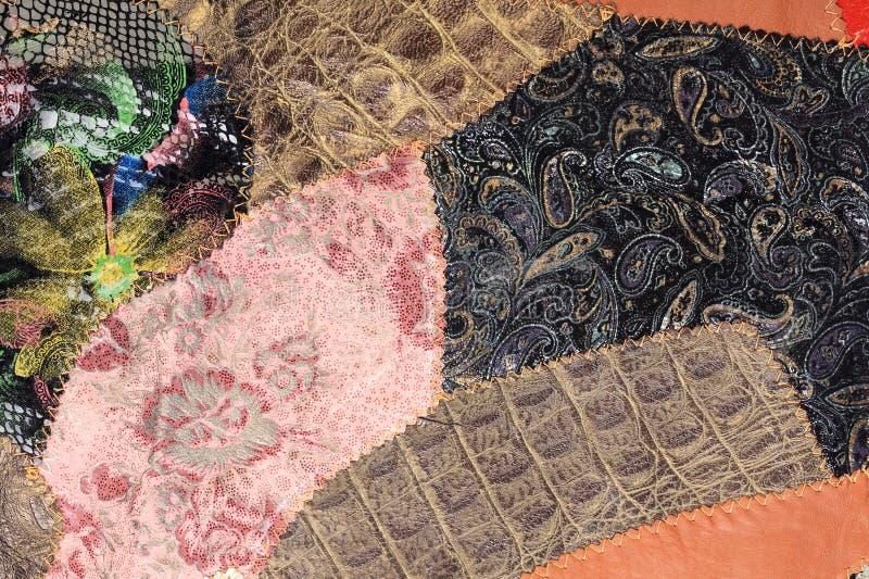 Obraz kolorowi kawałki skóra obraz royalty free