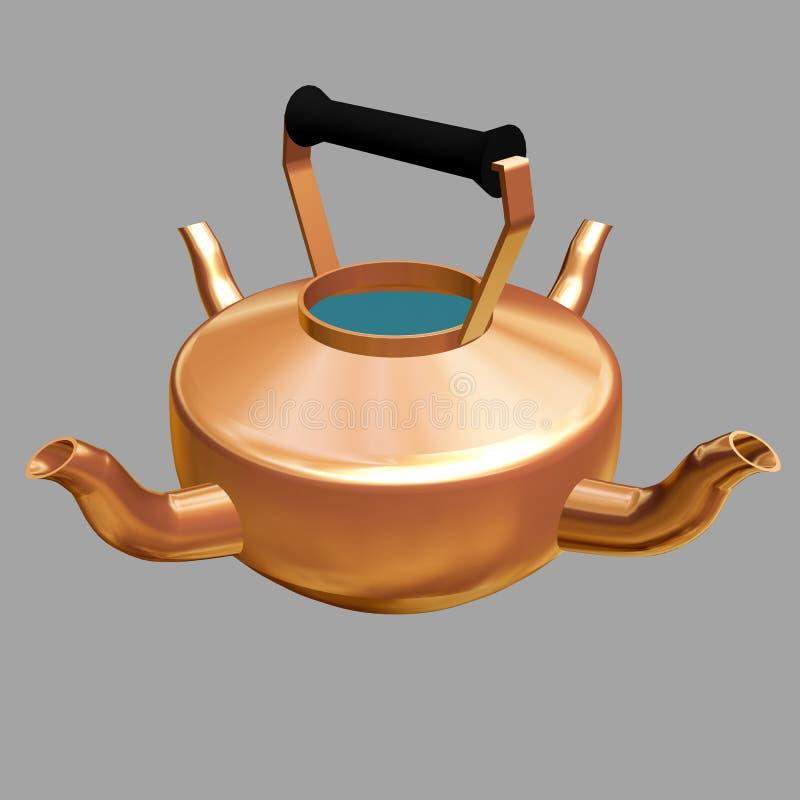 obraz niezwykłe teapot 3 d zdjęcia stock