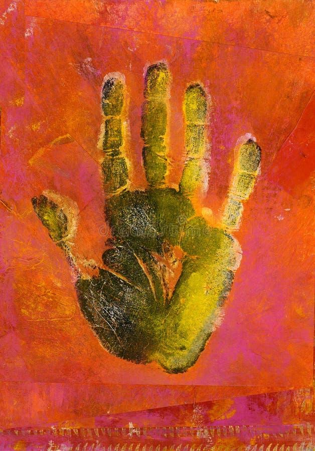 obraz odcisku dłoni ilustracja wektor
