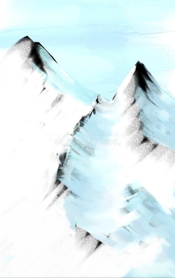 Obraz olejny gór grafika na kanwie zdjęcie royalty free