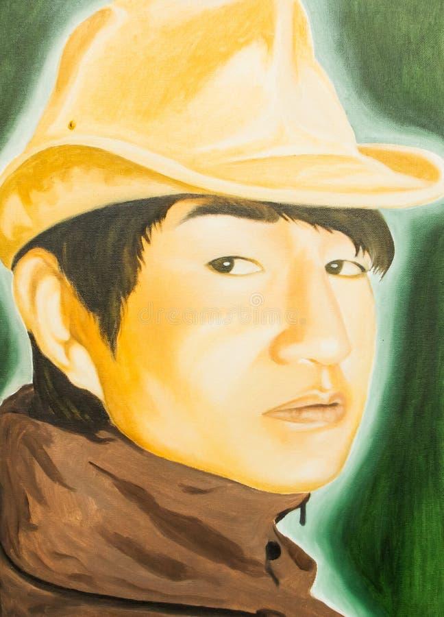 Obraz olejny mężczyzna zdjęcie stock