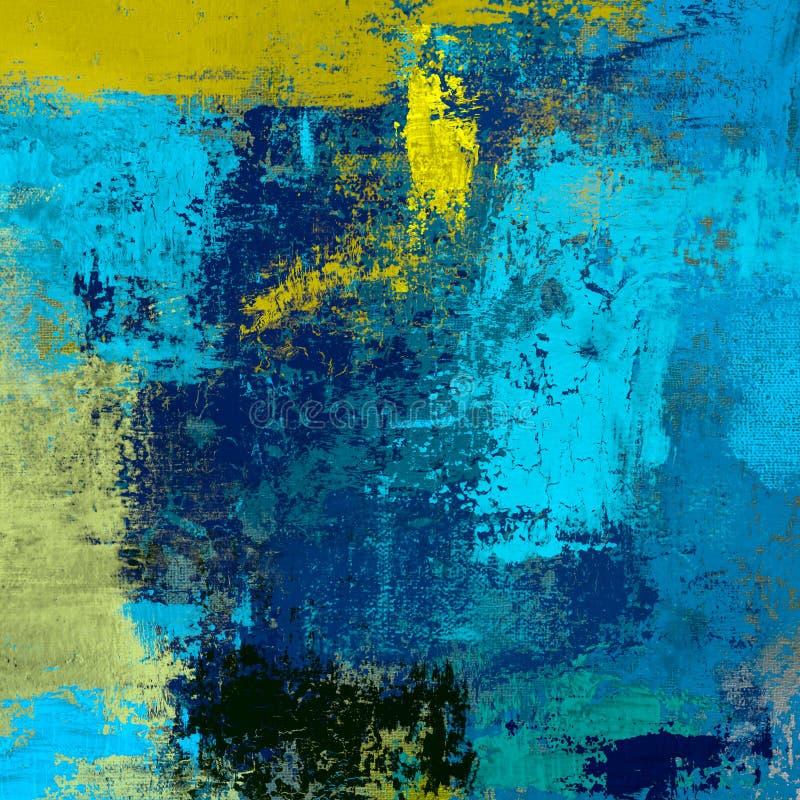 Obraz olejny na brezentowy handmade Abstrakcjonistycznej sztuki tekstura struktura kolorowa nowożytna grafika Uderzenia gruba far ilustracji
