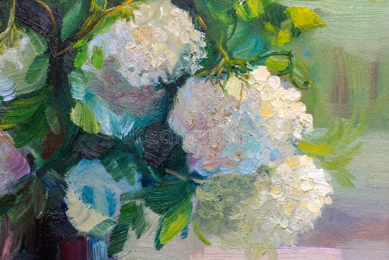Obraz olejny tekstura maluje wciąż życie, impresjonizm sztuka ilustracji